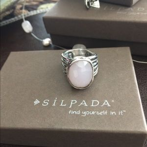SILPADA Retired SS Pink Glass Ring